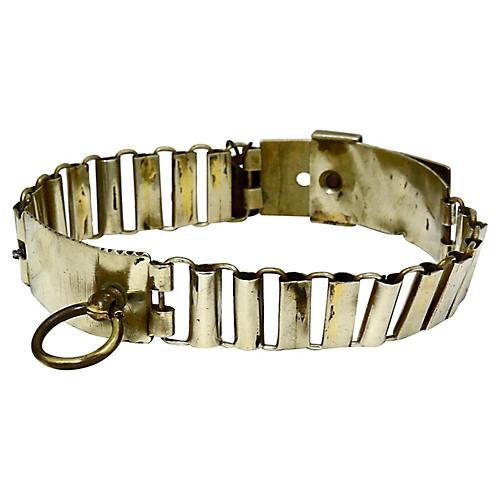 French Dog Collar & Register Tag, 1926
