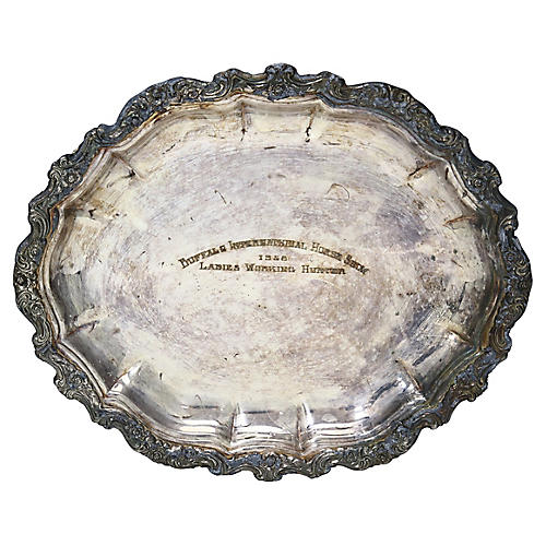1958 Horse Show Silver-Plate Trophy Tray