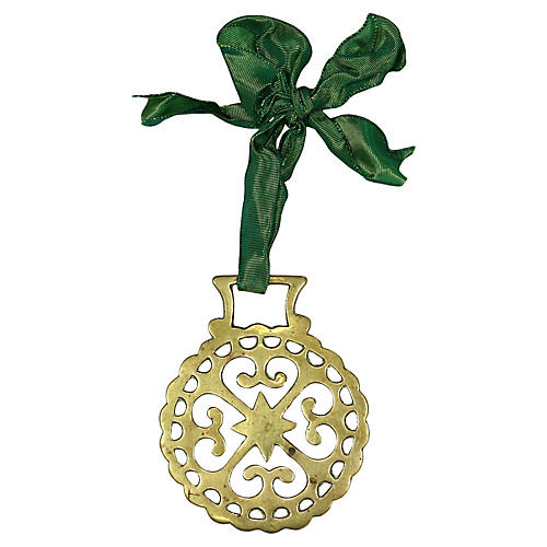Antique English Horse Brass Ornament