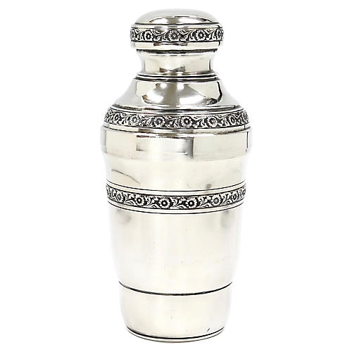Midcentury Silver-Plate Cocktail Shaker