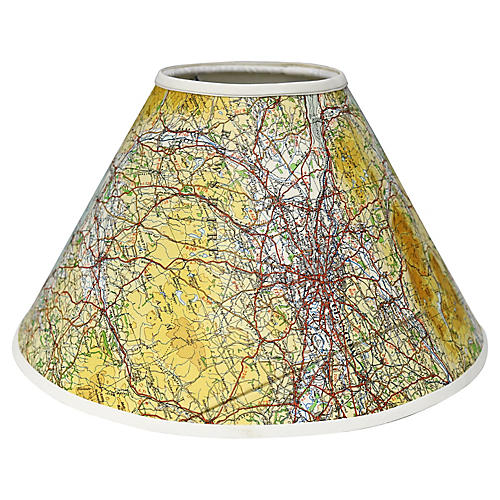 Antique Map of Glasgow Lampshade