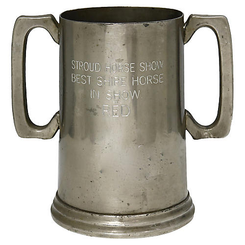 English Pewter Horse Show Trophy Cup