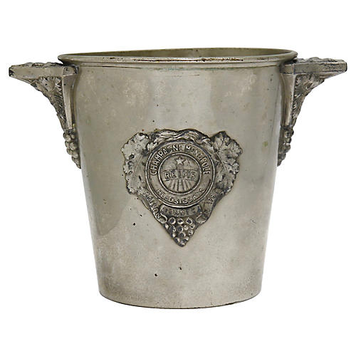 Antique French Monopole Champagne Bucket