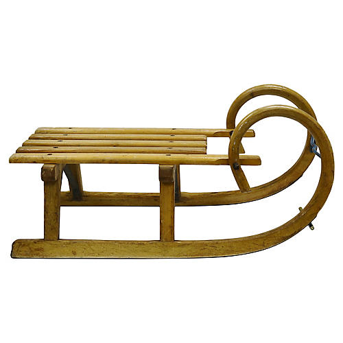 Antique French Wood Sled