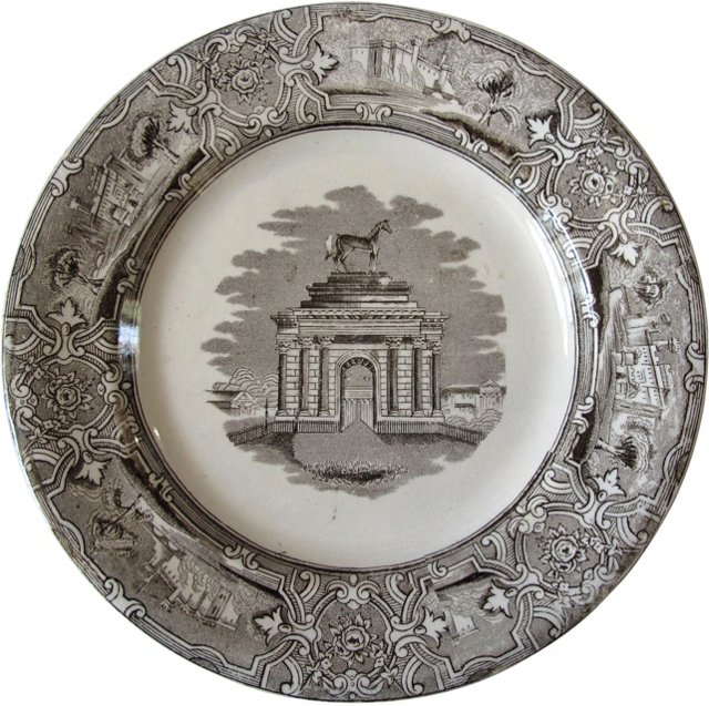 Staffordshire London Wall Plate, C. 1850