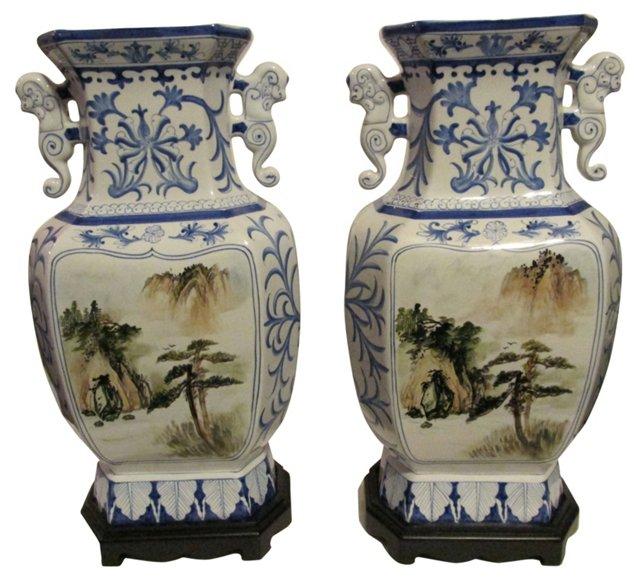 Japanese Large Urns, Pair