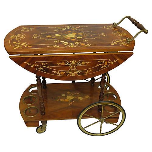 Italian Marquetry Tea Cart