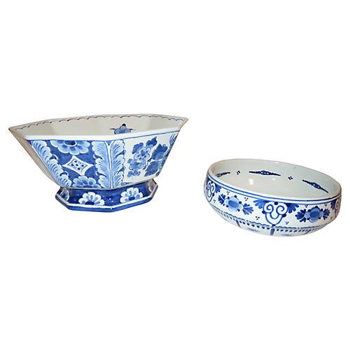 1960s Delft Bowls, S/2