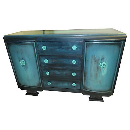 Midcentury Turquoise Buffet
