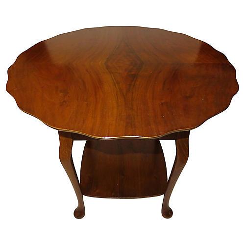 Antique Tilt-Top Side Table