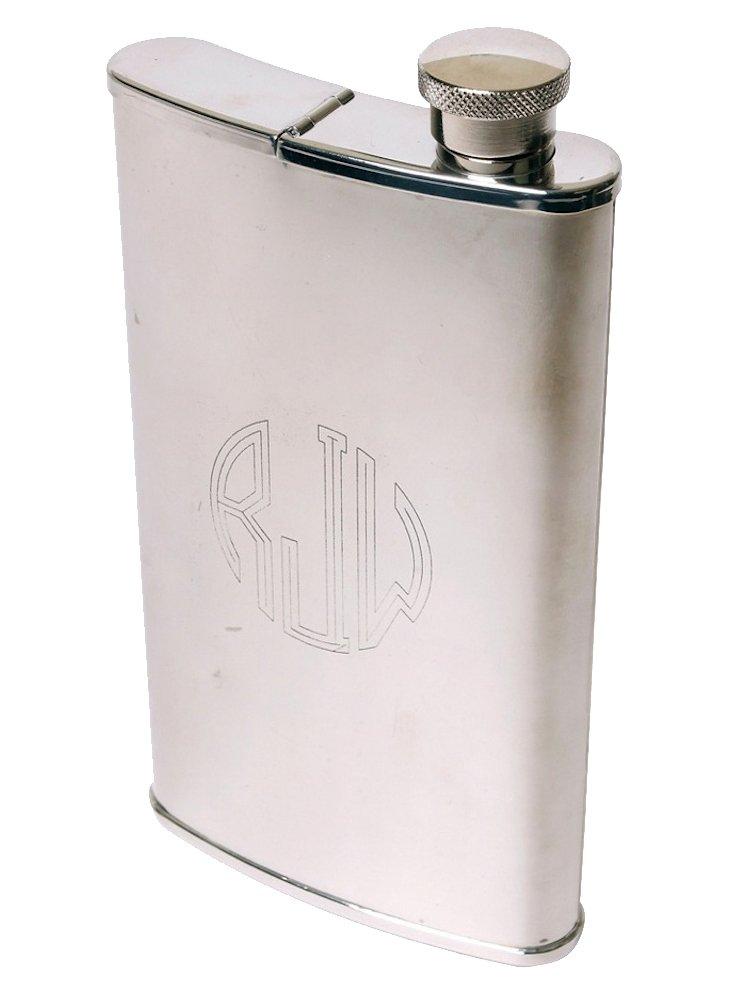 Monogrammed Flask