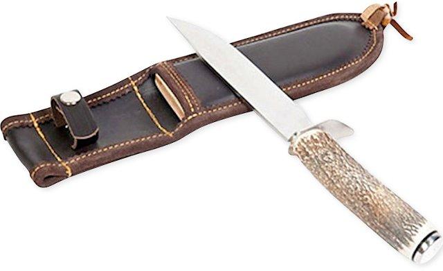 Hunting Knife w/ Leather Sheath