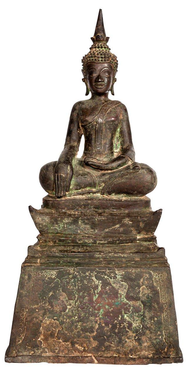Cast-Bronze Seated Buddha