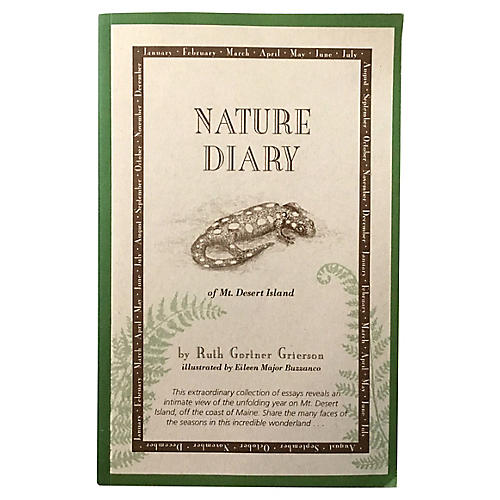 Nature Diary, Mt. Desert Island, Signed
