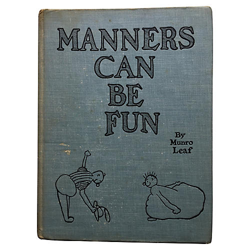 1st Edition Manners Can Be Fun,1936