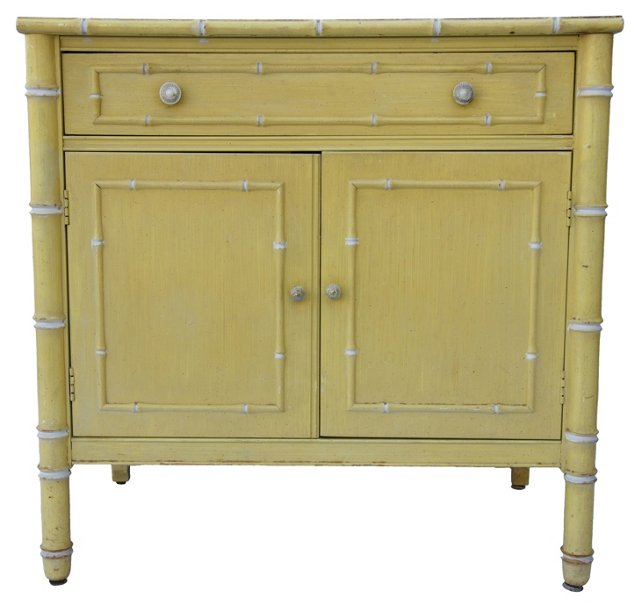 Thomasville  Faux-Bamboo Cabinet