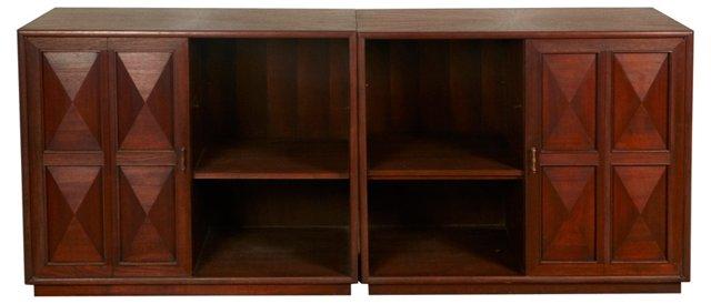 Midcentury Storage Cabinets, Pair