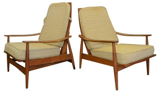 1960s Danish Lounge Chairs, Pair
