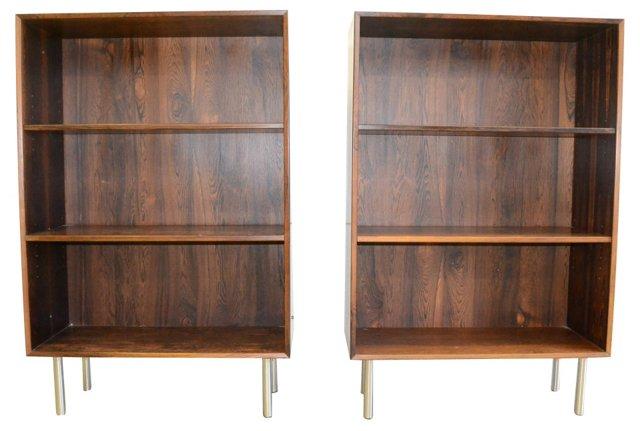 Danish Rosewood Bookcases, Pair