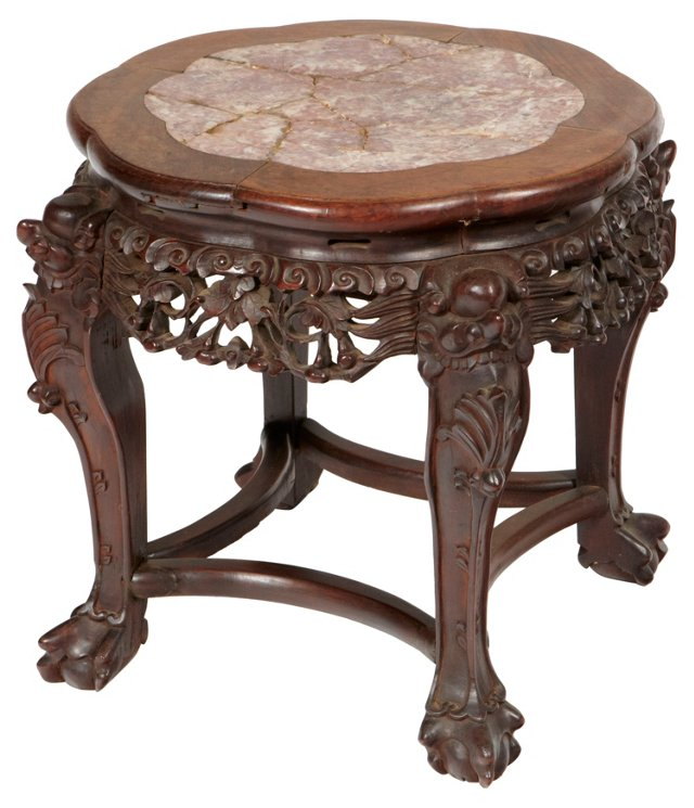 Japanese Hand-Carved Stool