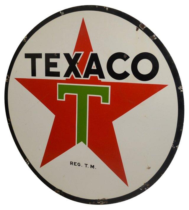 Porcelain Texaco Gas Sign