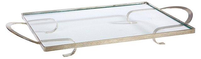 Art Deco Chrome-Handled Tray