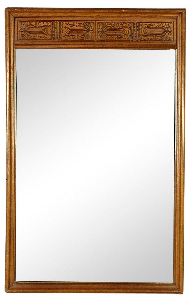 1960s Mirror w/ Mayan Motif