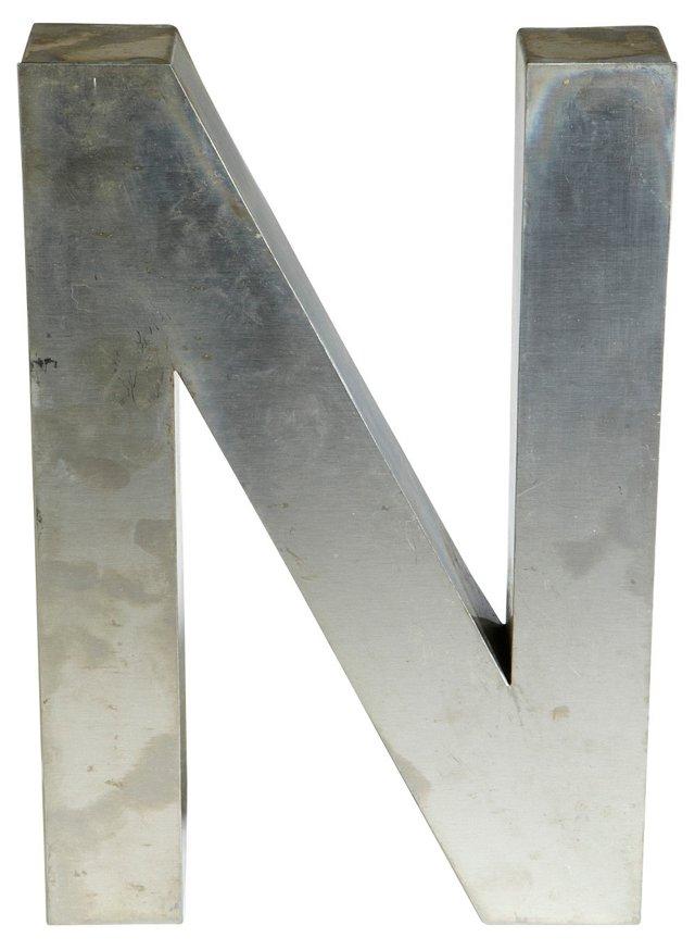 Aluminum Marquee Letter N