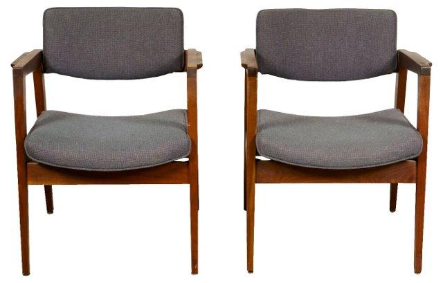 1960s Gunlocke Armchairs, Pair