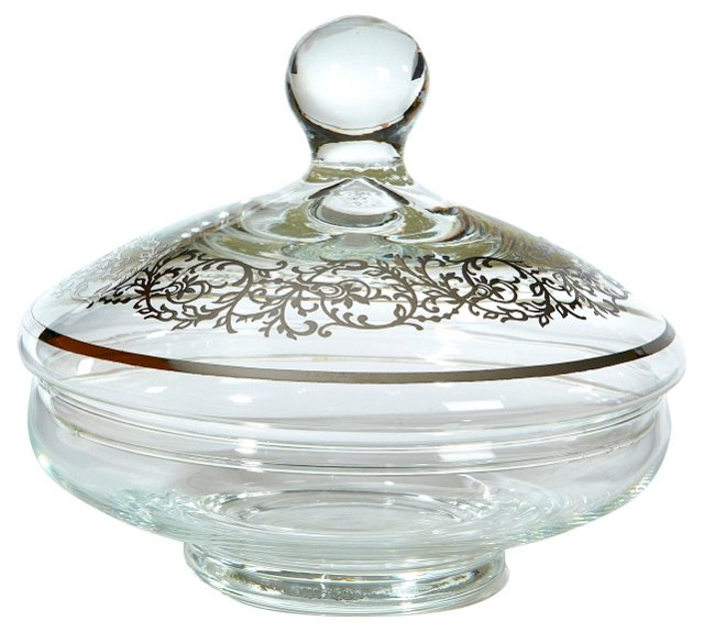 Silver-Overlay Covered Dish