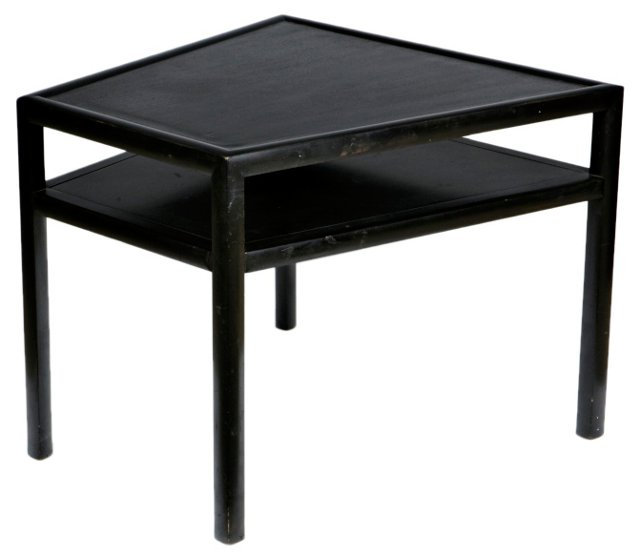 Baker Lacquered Wedge Table