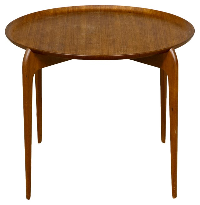 Danish Teak Tray-Top Table by Moreddi