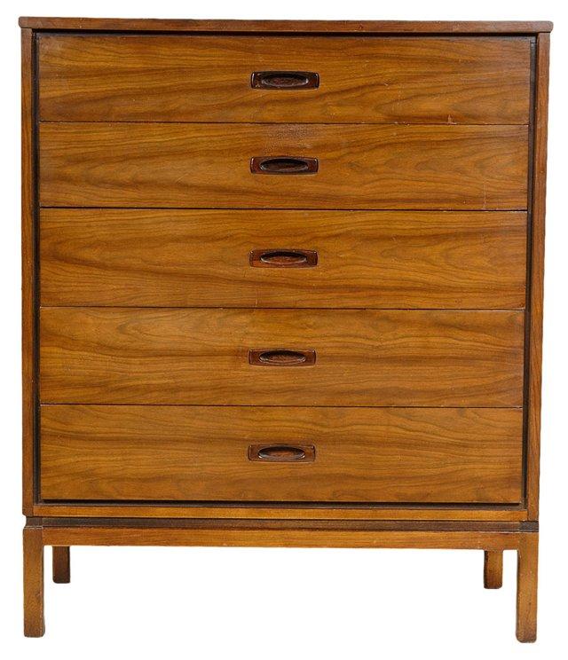 1960s Tall  Mahogany Dresser