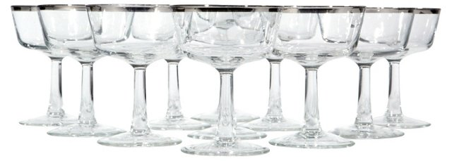 1960s French Silver Rim Coupes, S/11
