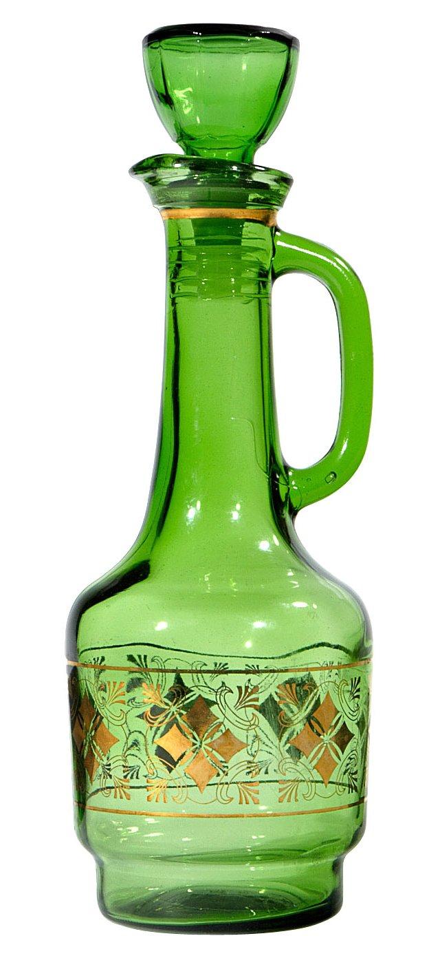 Emerald Green & Gilt Decanter