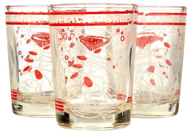 1950s Shot Glasses, S/3