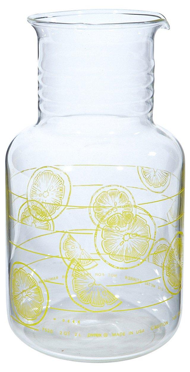 1960s Carafe w/ Lemon Pattern