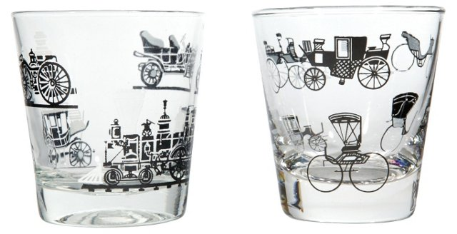 1960s Old Fashioned Tumblers, Pair
