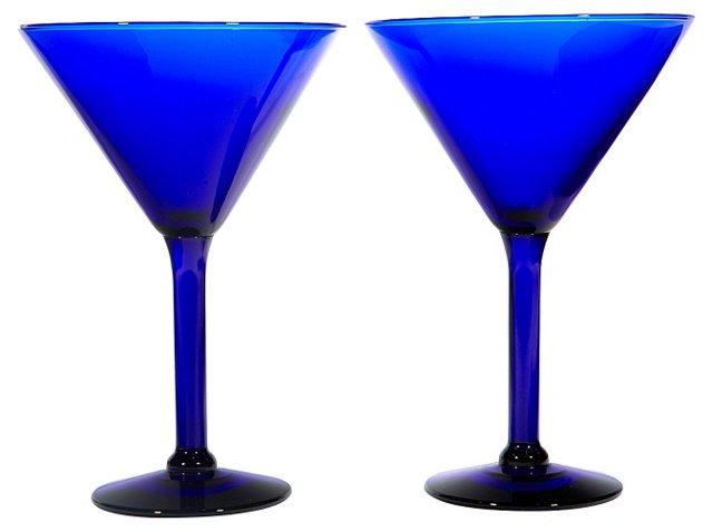 Art Deco-Style Martini Stems, Pair