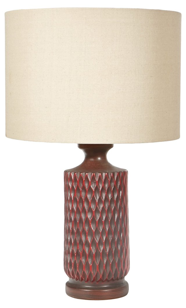 1960s Ceramic Textured Lamp