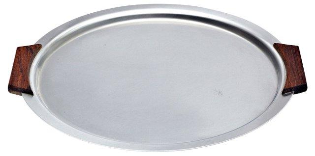 1960s Danish Stainless Round Plate