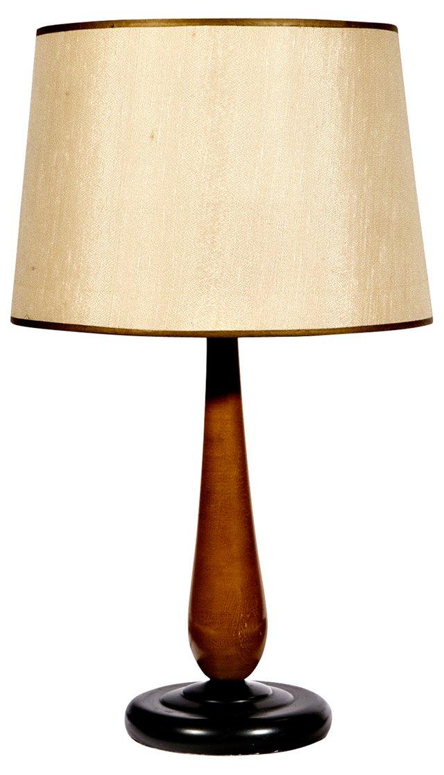 Two-Tone Wood Lamp