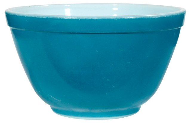 1960s Blue Mixing Bowl ( shows wear )