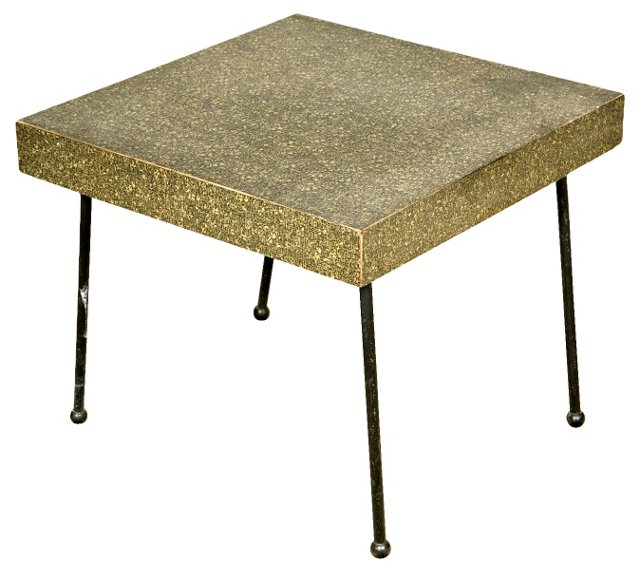 1950s Side Table w/ Iron Legs