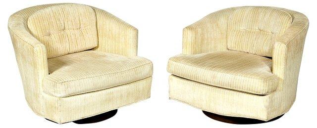 1960s Tub Chairs Attr. to Baughman, Pair
