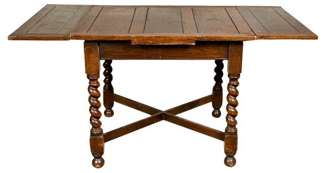 English Barley-Twist Rectangular Table