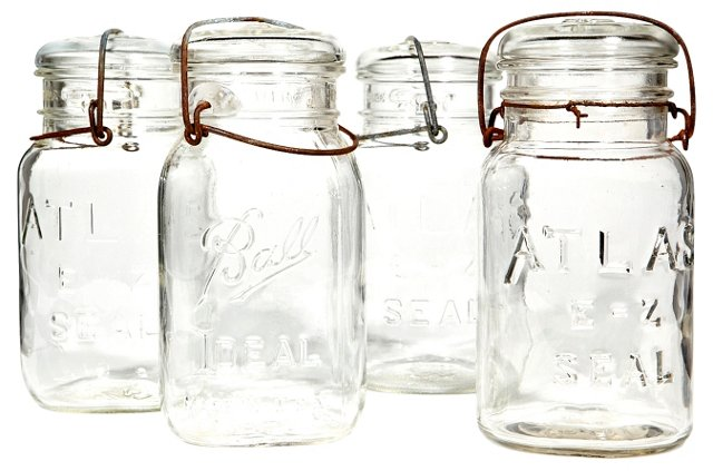 Collection of Kitchen Jars, S/4
