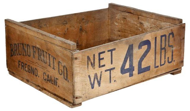 California Wood Fruit Box