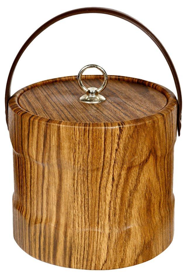 1960s Faux-Bois Ice Bucket