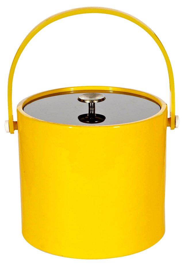1970s Yellow & Black Ice Bucket